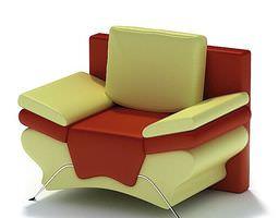 3d multi color armchair