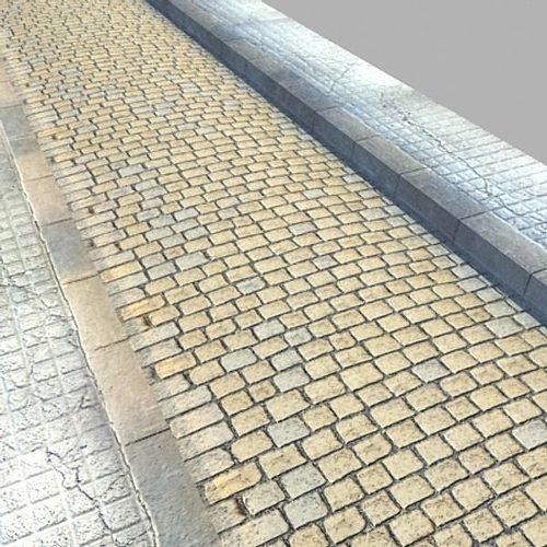 realistic old road high res 5000 x 3000 3d model max obj mtl 3ds fbx mat 1
