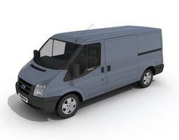 3D White Transit Van