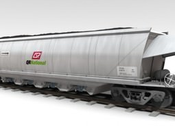 VCA Coal Hopper Wagon 3D