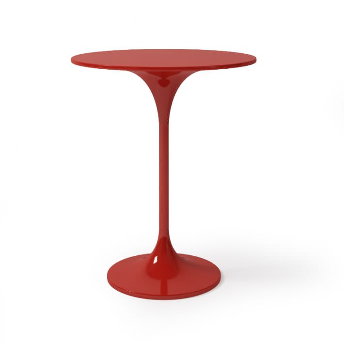 Red Round Bar Table D Model CGTrader - Cheap round bar table
