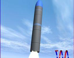 JL-2 Ballistic Missile 3D