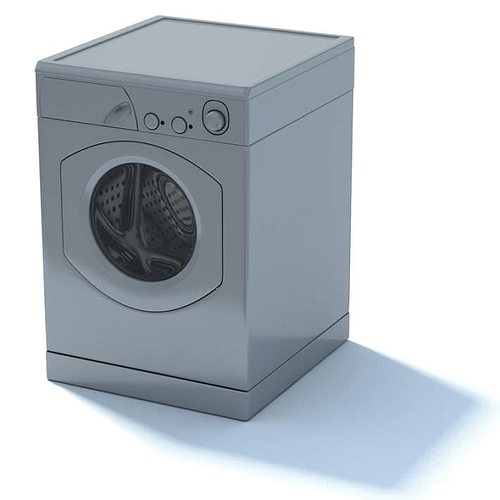 modern washing machine 3d cgtrader. Black Bedroom Furniture Sets. Home Design Ideas