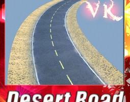 3D Realistic Desert Road High Resolution