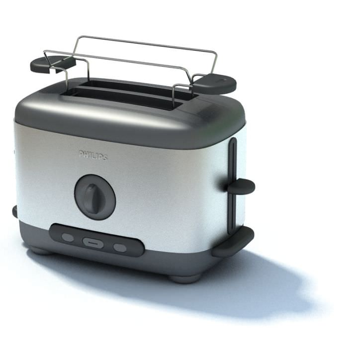 Appliance Phillips Silver And Black Toaster 3d Model Max