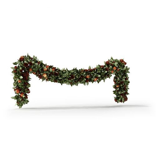 christmas garland 3d model cgtrader