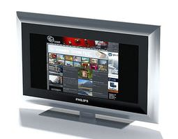 3d model television   phillips flat screen