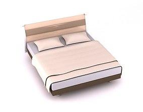 3D model Memory Foam Queen Size Bed