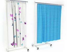 Hospital Curtains On Wheels 3D Model