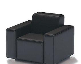 Black Cushion Armchair 3D