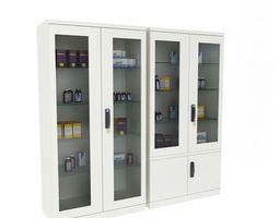 3D model Hospital Equipment Cabinets