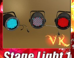 3D Realistic Stage light 01