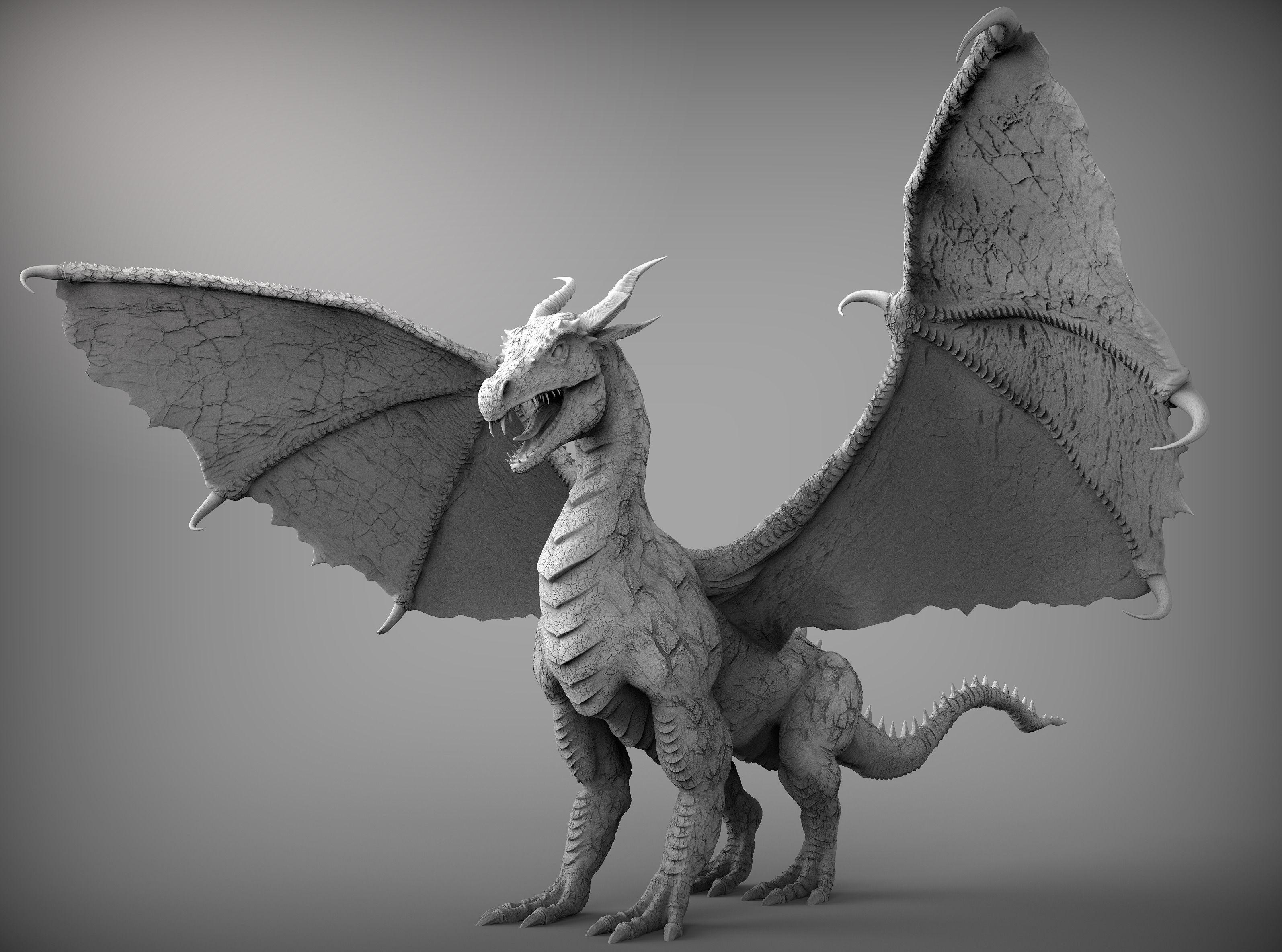 3d Cad Online Zbrush Dragon 3d Model Obj Ztl Cgtrader Com