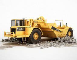 3d model yellow construction truck