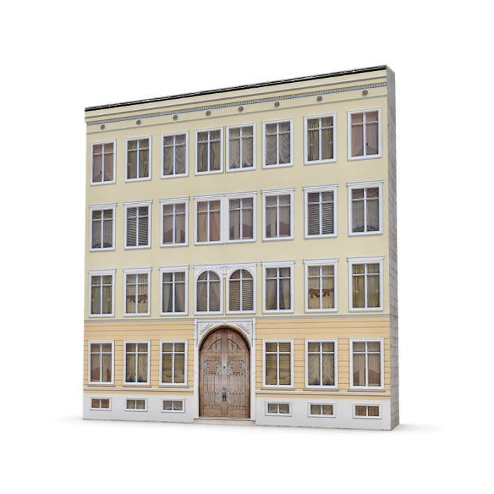 Four Story Building Facade