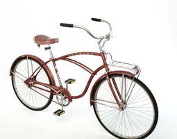 old brown bicycle 3d