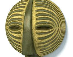 3d african tribal mask
