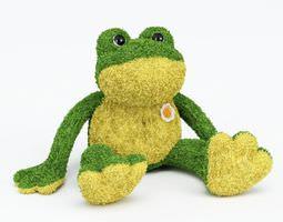 3d model plush stuffed frog