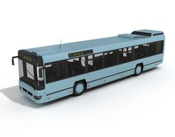 3d blue city bus