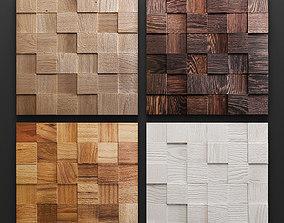 Mosaic wood panel 3D set