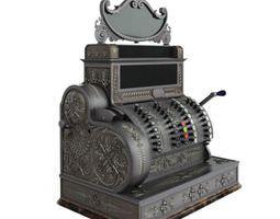 3D Antique Cash Register