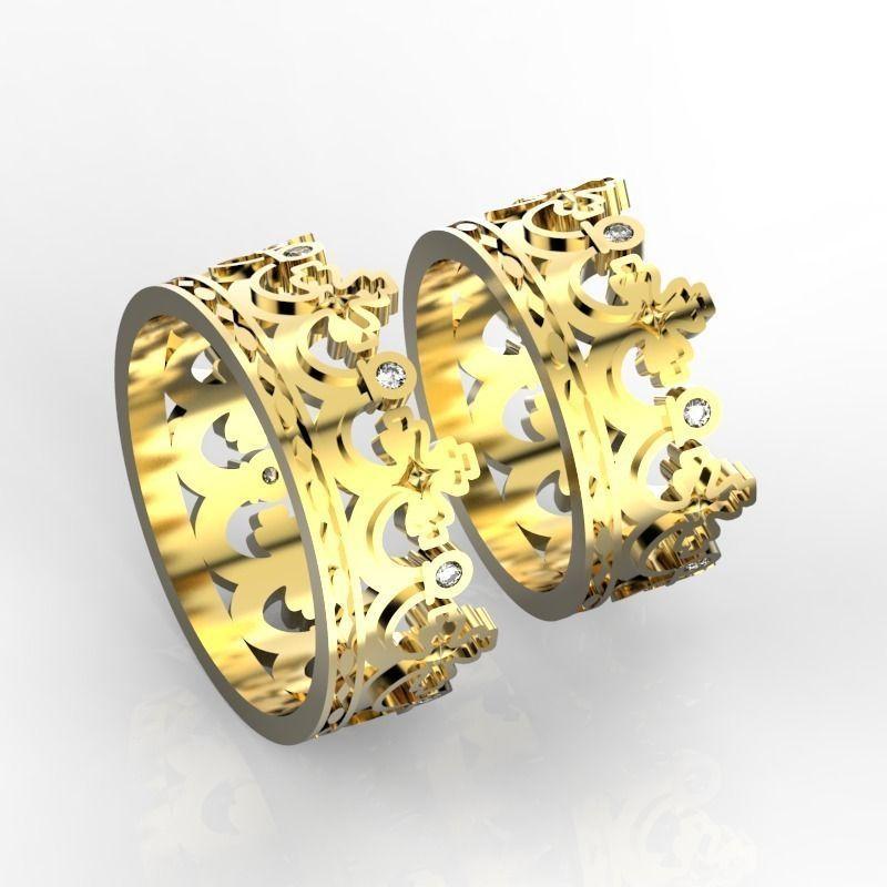 crown wedding bands 2 3d model stl 3dm 2 - Crown Wedding Ring