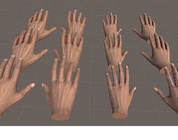 hands for vr basic - unity3d realtime animated