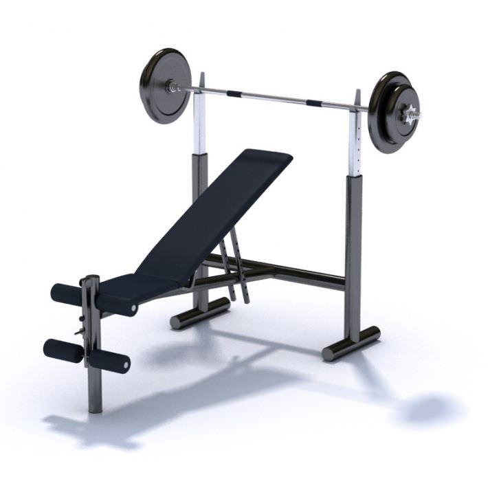 Stupendous Gym Equipment Bench Press With Variable Seat Angle 3D Model Gmtry Best Dining Table And Chair Ideas Images Gmtryco