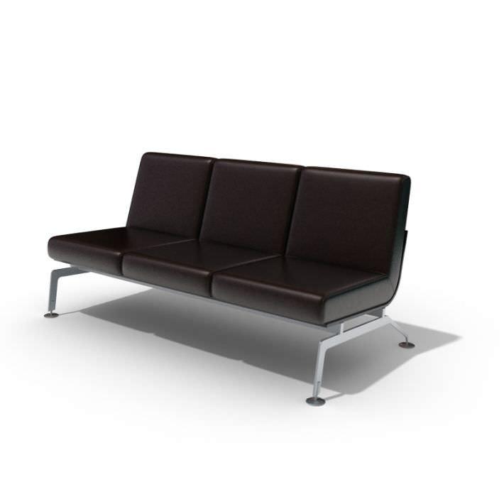 Dark Brown Leather Sofa Bed Model 1