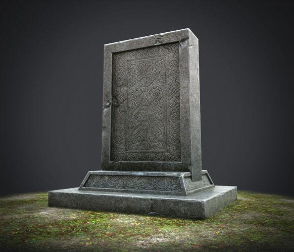 stone tablet 3d model low-poly ma mb tga 1
