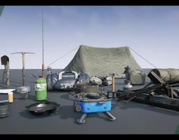 3D asset Survival Props