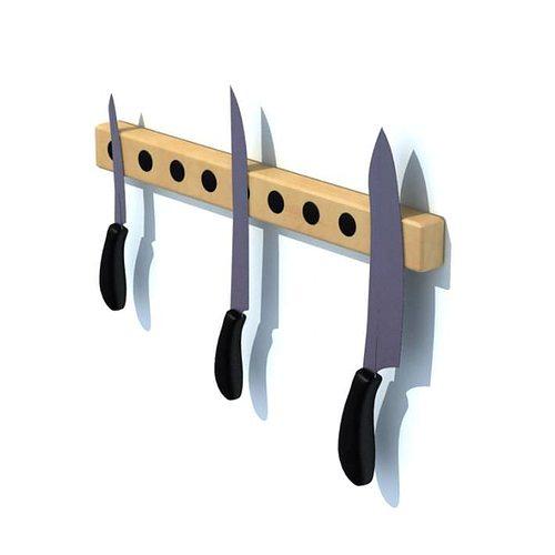 wall knife holder 3d model  1