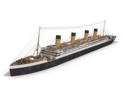 3D Titanic Like Passenger Ship
