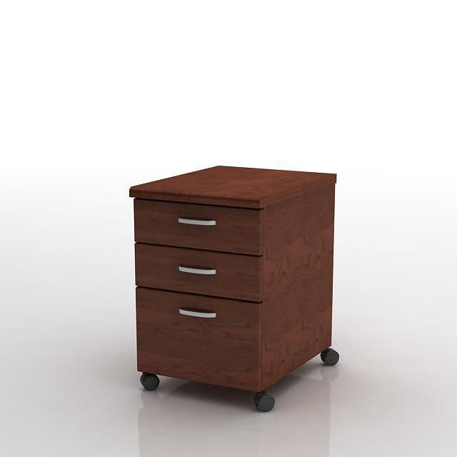 mobile file cabinet amazon rolling model obj with lock and wheels