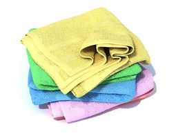 3d model multi colored large towels