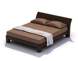 3D Modern Queen Size Bed Frame