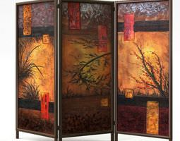 3D Wall Divider Painted