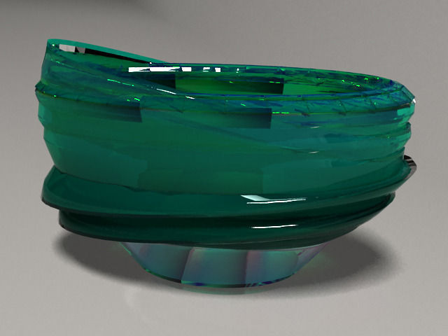 3d Model Colored Glass Vase 4 Realistic Cgtrader