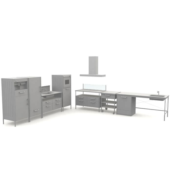 Furniture kitchen set 3d model cgtrader for Model model kitchen set