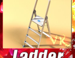 step ladder high detail 3d