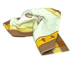 3D Cream Towel With Border