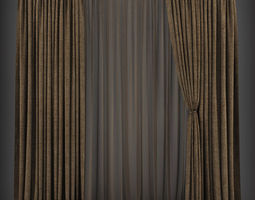 Curtain 3D model 166 low-poly