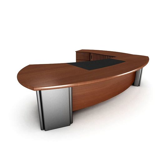 Genial Executive Luxury Office Desk 3D Model