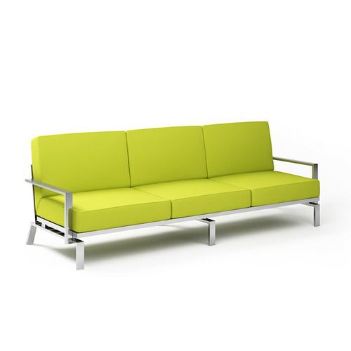 3d model lime green sofa cgtrader for Lime green sofa