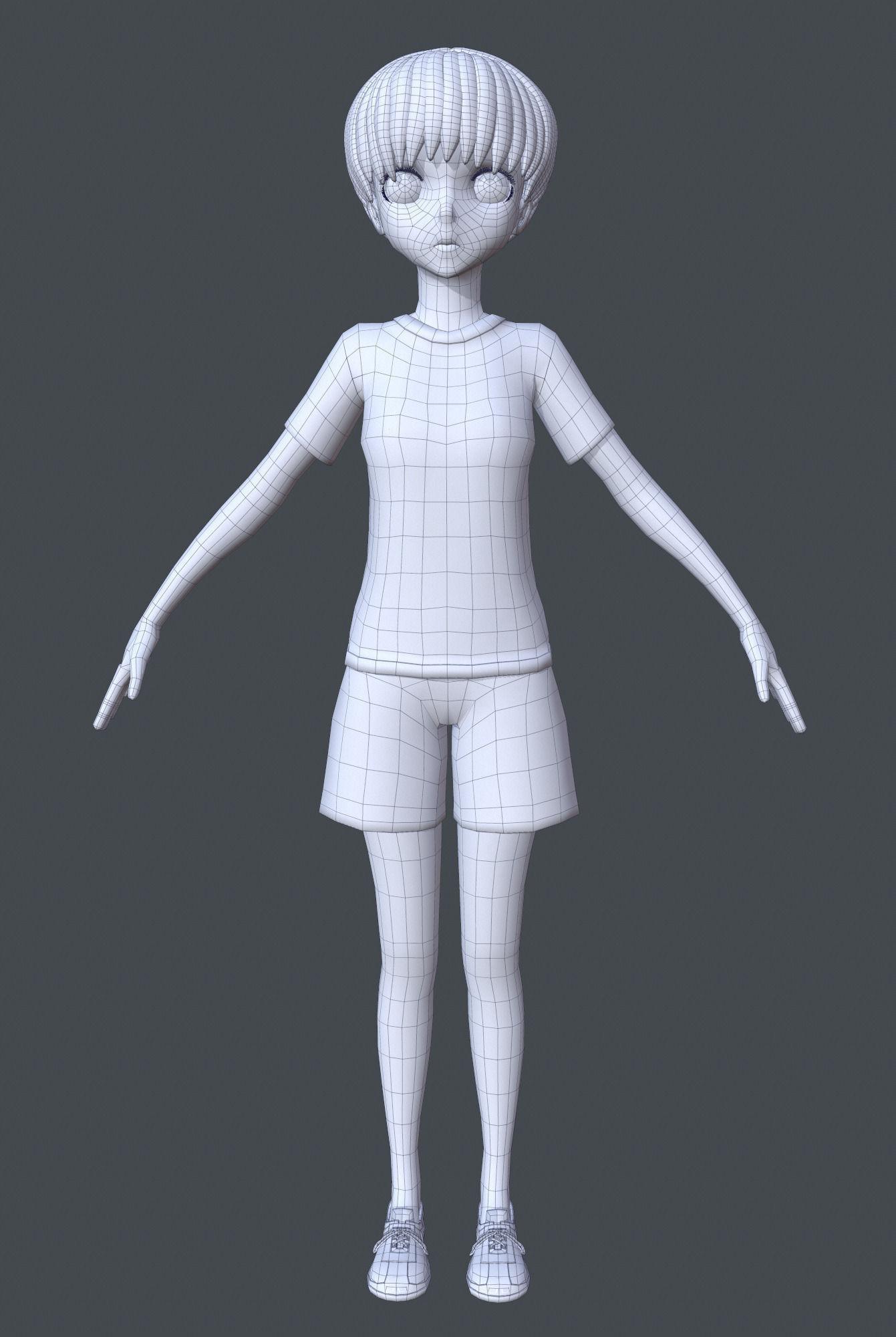 Anime girl model