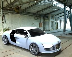 vehicle 3D model Audi R8