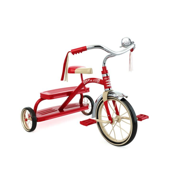 Radio Flyer Bike >> Radio Flyer Bicycle Kids 3d Model