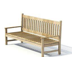 3D model Garden Furniture Bench
