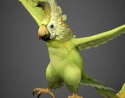 3D model Game Ready Fantasy Parrot