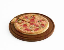 Pizza And A Slice 3D model